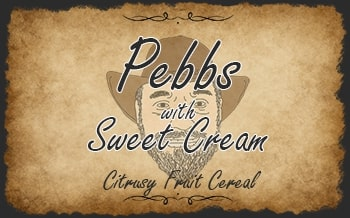 Pebbs with Sweet Cream
